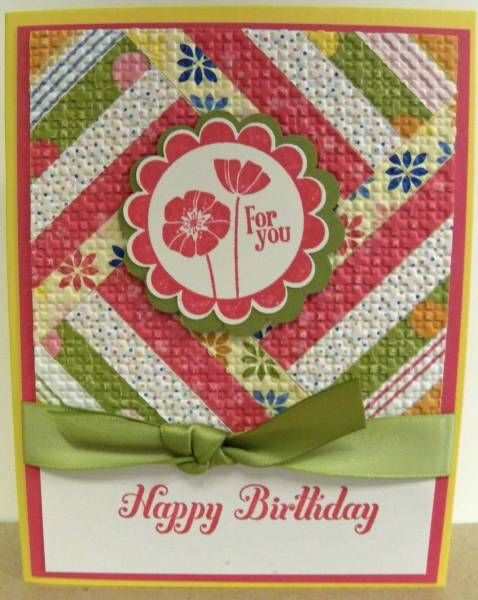 No Sew Quilt Card by lindathecreator - Cards and Paper Crafts at Splitcoaststampers