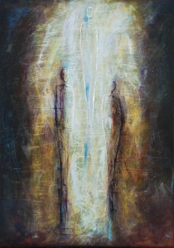 """""""Path"""", #mixedmedia on #canvas at #Gallery Saint-Dizier in #Montreal"""