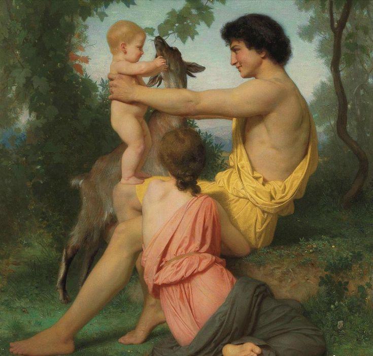 William-Adolphe Bouguereau (1825-1905) - Idylle