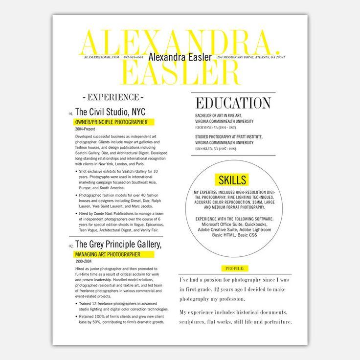 Loft Resumes 1 Page Resume Service \u2013 resume