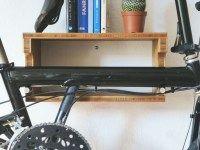 Als Birdy-halter in Bambus. #fahrrad #wandhalterung #fahrradregal #bikeshelf