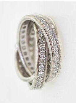 Cartier Trinity 18K WG Diamond Ring