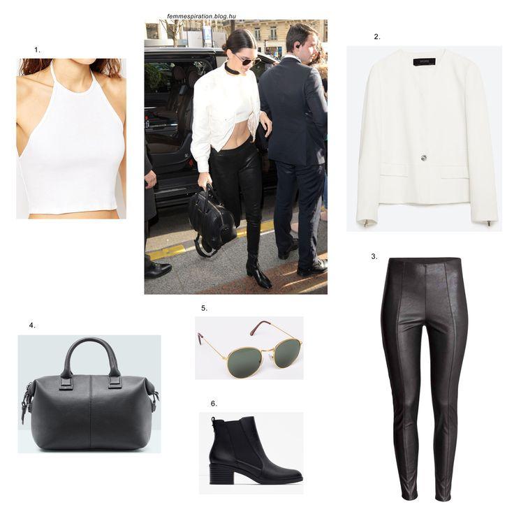 #kendalljenner #blackandwhite #outfit #style #fashion #inspiration #zara #hm #mango #pullandbear #asos