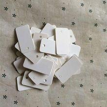 100 unids/lote White Paper etiquetas DIY cuadrados de envasado de alimentos etiquetas Tabel MessageTag blanco tarjetas de la palabra decoración de la boda 2 * 4 cm(China (Mainland))