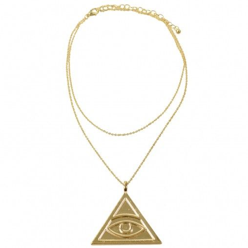 SACHA // All-seeing eye necklace €7,95 #egypt #gold #symbol