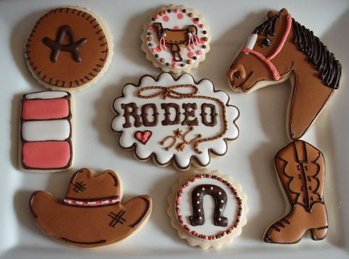 Allie's Rodeo Collection - Centerpiece Cookie by SweetSugarBelle, via Flickr