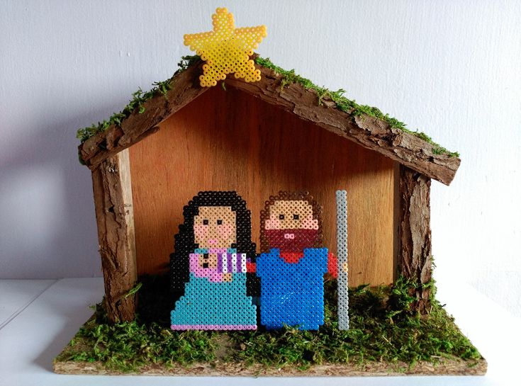 Pixel Art – Navidad VI – Belén |