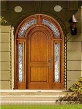 Americano arco mogno porta de entrada dupla