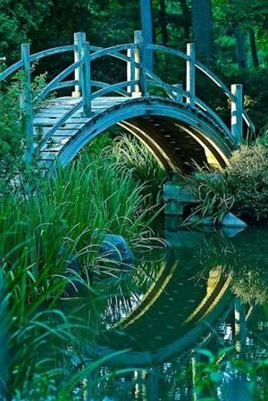 Moon Bridge, Batavia, Illinois photo via through
