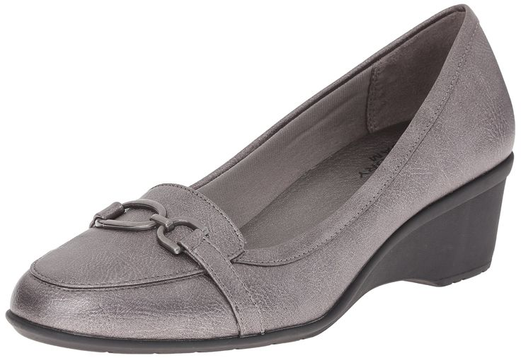 LifeStride Women's Keaton Wedge Loafer, Pewter, 10 W US. LifeStride velocity with memory foam. Flexible sole. Stylish all day comfort.