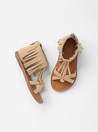 Resultado de imagen para Fringe sandals taupe gap