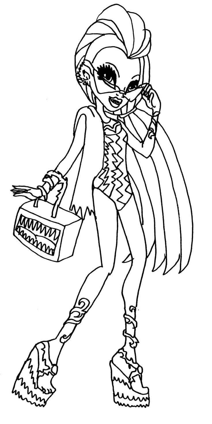 Kostenlose Ausmalbilder Monster High : Draculaura Monster High Coloring Page Coloring Pages Of Ever After