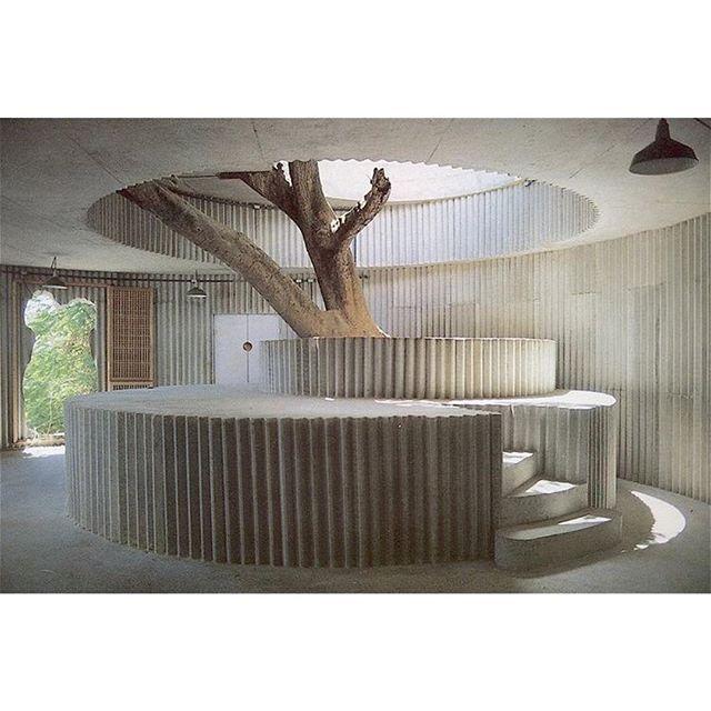 Lina Bo Bardi's concrete interior for Coati Restaurant Salvador via somewhereiwouldliketolive.jpg