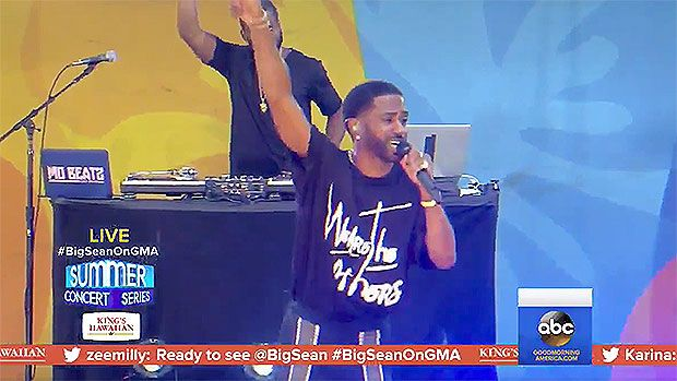 "Big Sean Hits 'GMA' Stage For Epic Performances Of 'Bounce Back' & More https://tmbw.news/big-sean-hits-gma-stage-for-epic-performances-of-bounce-back-more  Good times! Big Sean was the latest artist to hit up 'Good Morning America's' Friday summer concert series on July 7, and he killed it with performances of his hits, like 'Bounce Back.'Big Sean definitely didn't take an ""L"" when he lit up the stage at Good Morning America's 2017 Summer Concert Series on July 7. He's got a megahit with…"