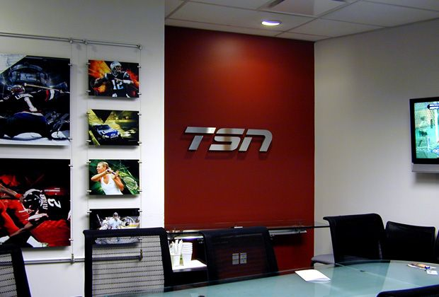 WALL OFFICE SIGN, created for The Sports Network,cable television speciality channel