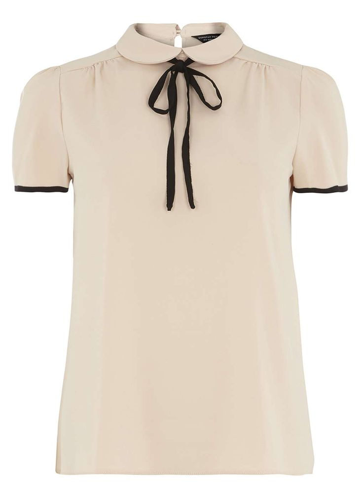 Blush Soft Tee With Neck Tie