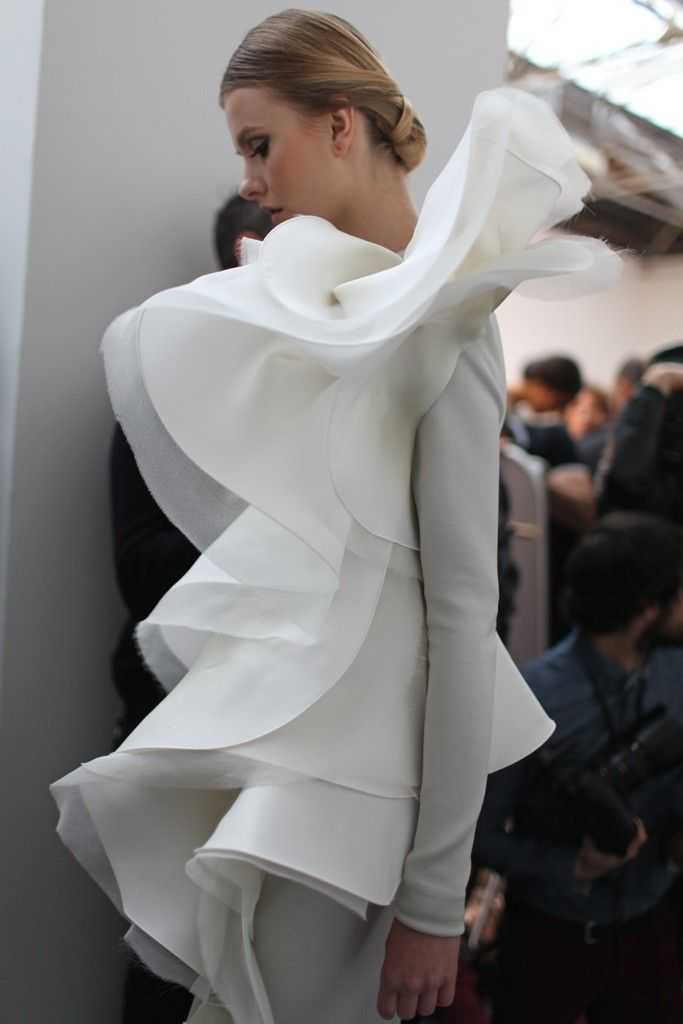 Backstage at Stéphane Rolland Spring Couture 2013 | @castaner
