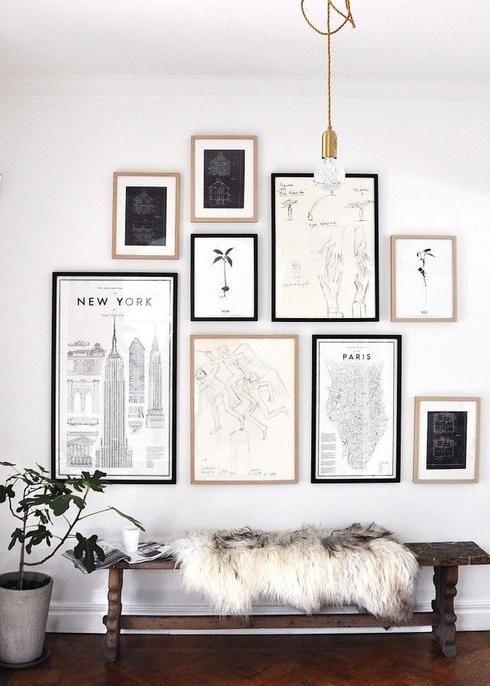 17 meilleures id es propos de cadres collage mural sur pinterest collages d 39 images collage. Black Bedroom Furniture Sets. Home Design Ideas