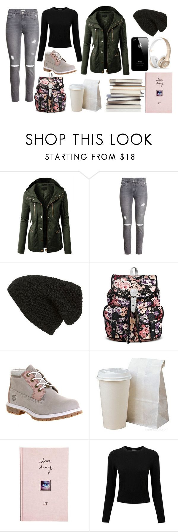 """""""That Awkward Girl AKA Me"""" by marsophie ❤ liked on Polyvore featuring LE3NO, H&M, Phase 3, Timberland, ASOS, Beats by Dr. Dre and Pure Collection"""