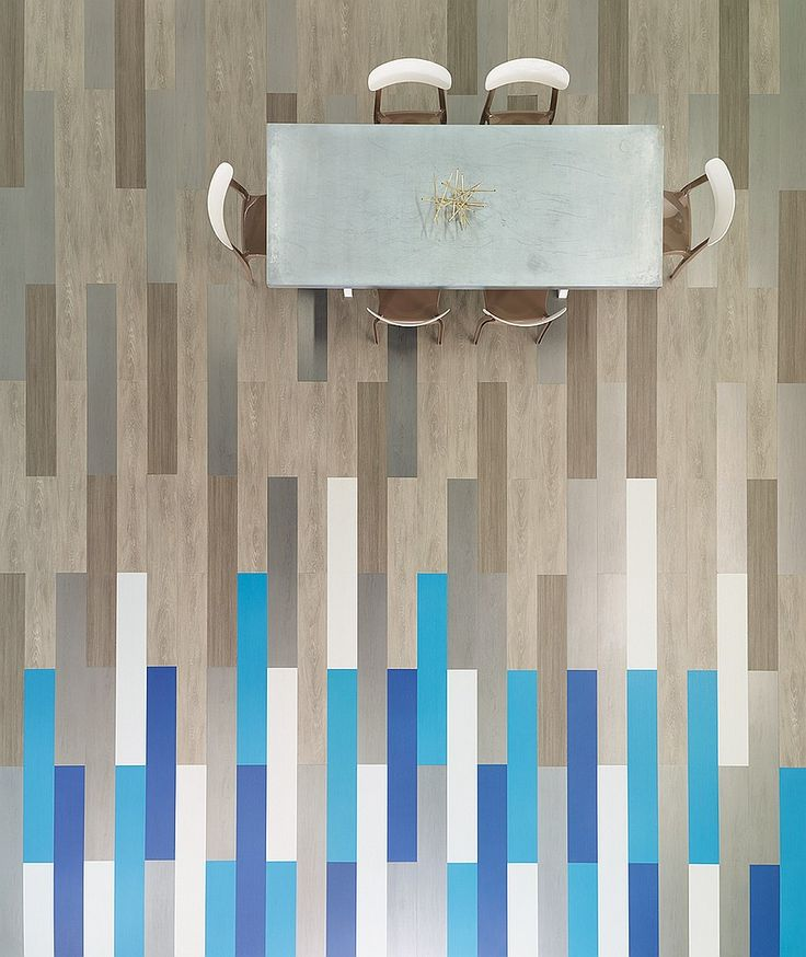 Gray + Pigment planks in vinyl by the Shaw Contract Group. Inspiration courtesy of www.keanejensen.com