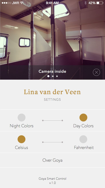 Minimal and elegant App Design, Settings Screen