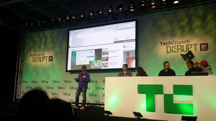 Yannis Mavraganis from #TheAccelerator2014 startup AfterSearch presented his #hackathon project during TechCrunch #DisruptSF2014