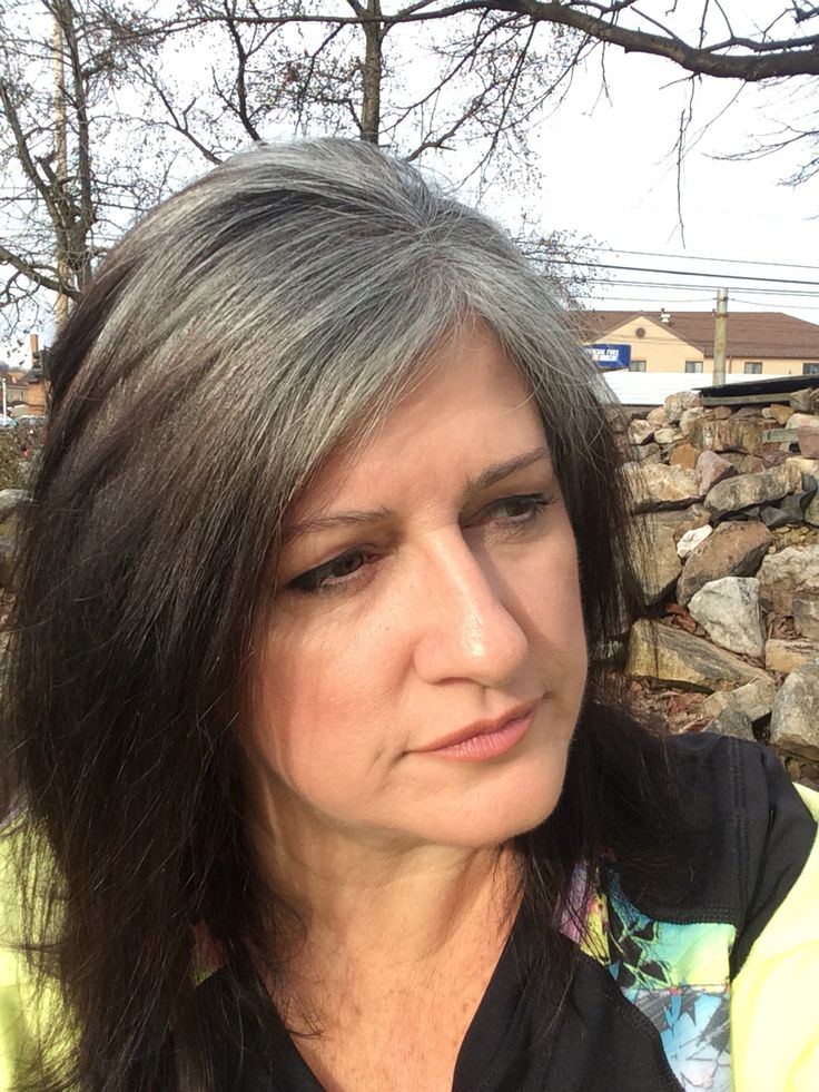 January 9, 2016 ~ transition to gray, about half way there. Approximately 7 months.