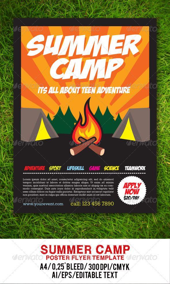 15 best SUMMER CAMP MARKETING IDEAS images on Pinterest Adobe - summer camp flyer template