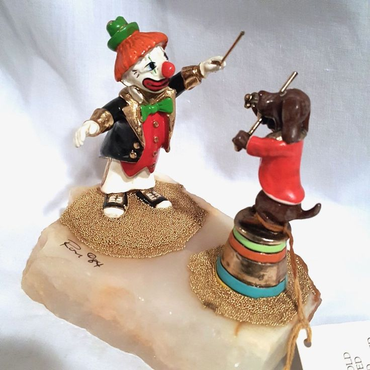 Ronald A Lee Clown Circus Music #Conductor Dog Violinist 84 Ron Lee Onyx 24K 358 #RonLee #clown