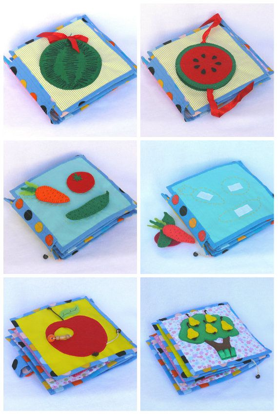 Handmade soft book for babies and toddlers door Visotskayahandmade