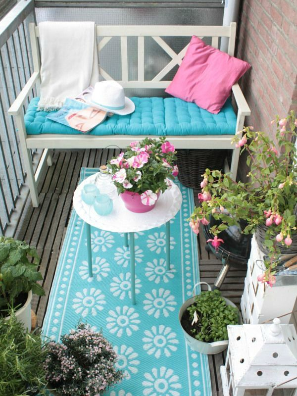 For those that reside in apartments, and are lucky enough to have a small patio or terrace, decorate those spaces to extend the living space...