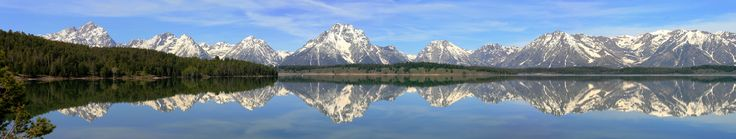Looking across Jackson Lake to the Grand Tetons - simply stunning.