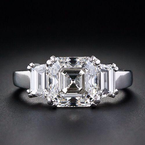 116 Best Asscher Cut Engagement Ring Images On Pinterest