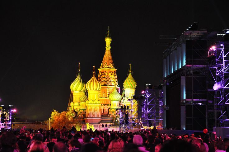 Festival of lights in Moscow