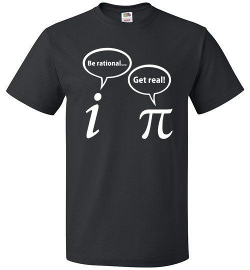 "Mathematical Joke Shirt Who knew something as serious as math could end up being so funny on a tshirt? If you have that special math geek in your life who'll get a kick out of this, get them The ""Pi D"