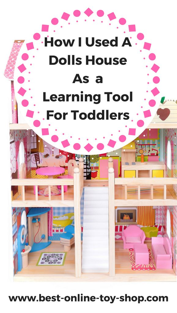 wooden doll houses are best toddler learning toys!