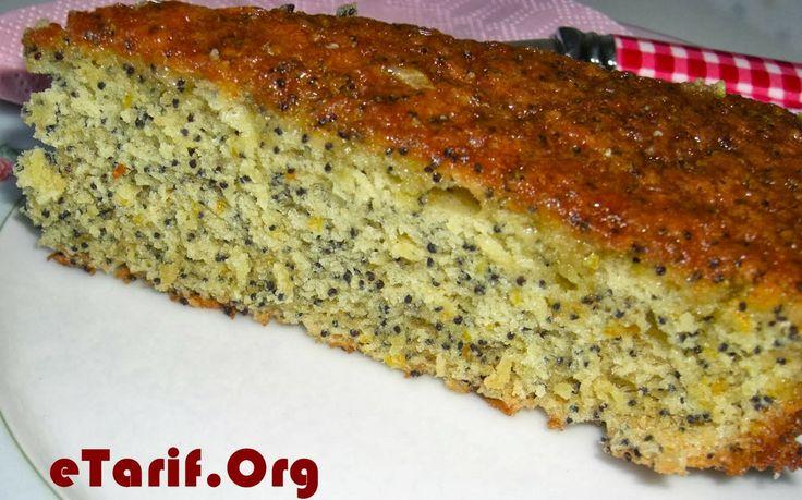 Yapımı çok pratik bir kek, portakallı haşhaşlı kek tarifi. - http://www.etarif.org/2014/02/Portakalli-Hashasli-Kek-Tarifi.html