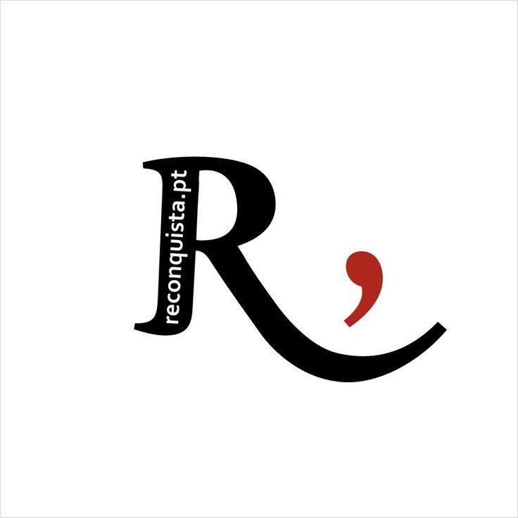 Logótipo Jornal Reconquista, versão web. Design Tiago Navarro Marques