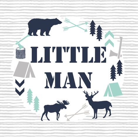"""little man 8"""" swatch boys camping small swatch by charlottewinter"""