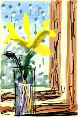 iPhone drawing by David Hockney