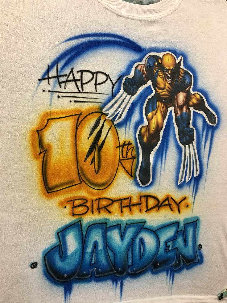 Wolverine shirt, xmen shirt, wolverine birthday, wolverine birthday party, xmen birthday shirt, xmen invitations, airbrush shirt by PunkyBirdAccessories on Etsy https://www.etsy.com/listing/515163962/wolverine-shirt-xmen-shirt-wolverine