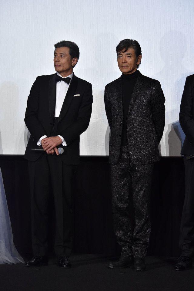 左からタカ役の舘ひろし、ユージ役の柴田恭兵。