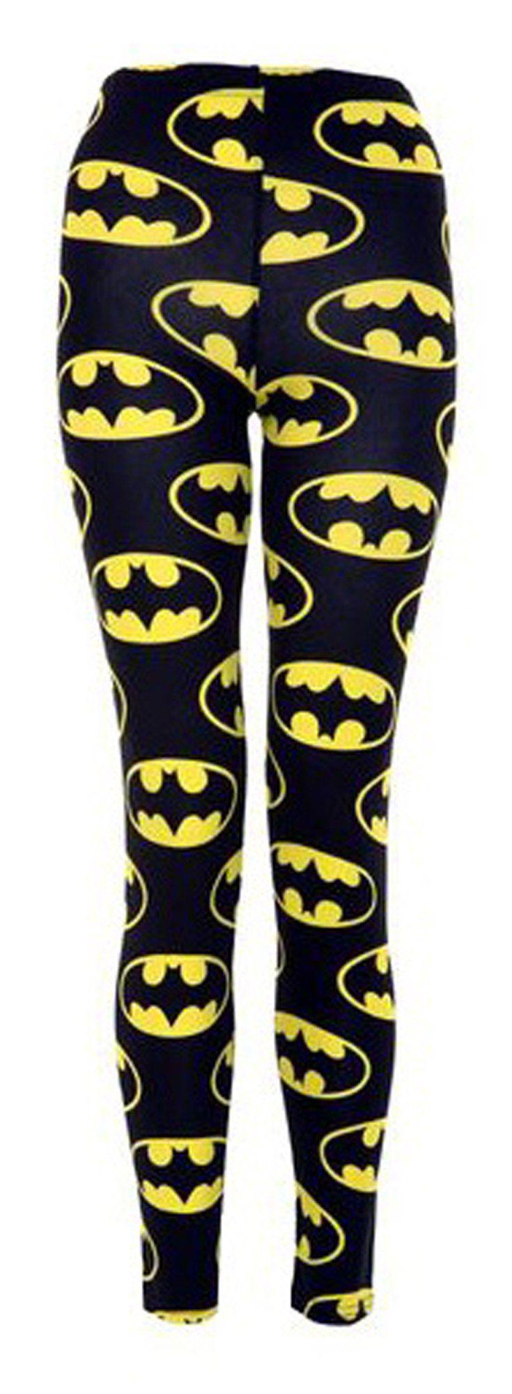 Crazy Girls Ladies Womens Batman Zebra Aztec Printed Leggings