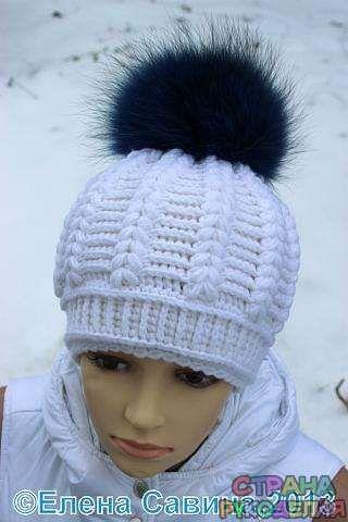 Красивая зимняя шапка крючком - Головные уборы - Вязание крючком - Рукоделие
