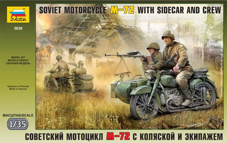 Zvezda soviet motorcycle m-72 - Modeledo.pl
