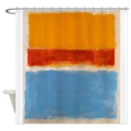ROTHKO IN BLUE _ORANGE RED Shower Curtain