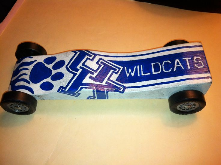 Kentucky wildcat pinewood derby car st place winner