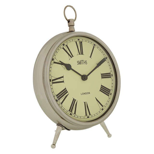 BuyLascelles Smiths Mantel Clock, Chrome, Large Online at johnlewis.com