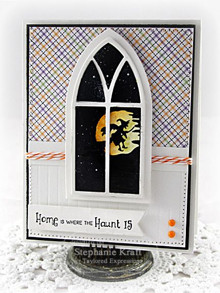 Home is Where the Haunt is Card by Stephanie Kraft #Cardmaking, #Halloween