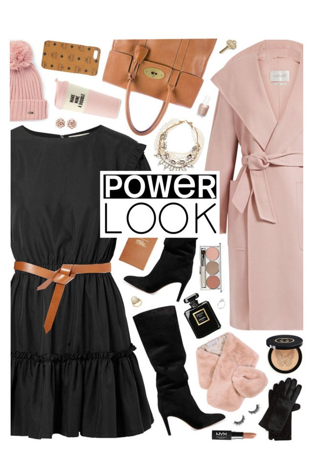 """GIRL POWER: Power Look"" by almost-glamorous ❤ liked on Polyvore featuring Alice + Olivia, MaxMara, Gianvito Rossi, Isabel Marant, Mulberry, Baldwin, Calvin Klein, Chesca, Polo Ralph Lauren and MCM"